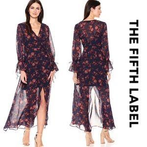 The Fifth Label Floral Wrap Dress